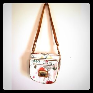 Valentina made in Italy floral leather crossbody